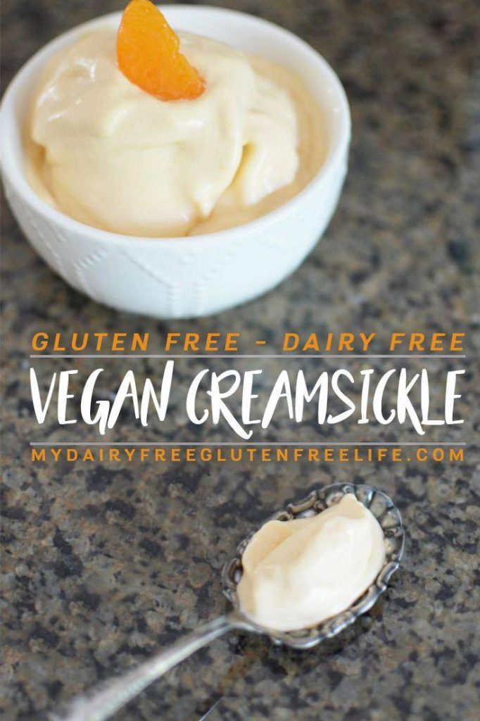 Vegan Creamsickle - Easy and delicious frozen dairy free gluten free treat | Dairy Free Summer Dessert | Vegan Creamsicle