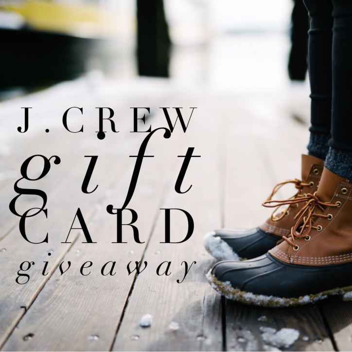 $200 J.Crew Gift Card Giveaway