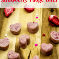 No Bake Strawberry Fudge Bites