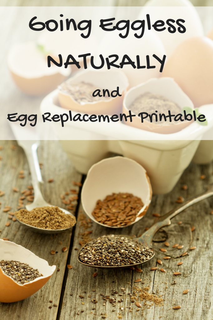 Going Eggless Naturally and Egg Replacement Printable