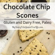 Chocolate Chip Scones Gluten and Dairy Free, Paleo