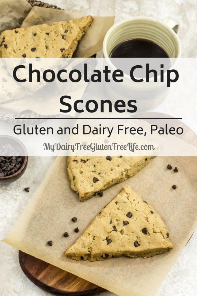 Chocolate Chip Scones Gluten and Dairy Free, Paleo