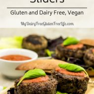 Mushroom Sliders Italian Style Gluten and Dairy Free, Vegan