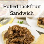 Pulled Jackfruit Sandwich Vegan Gluten Free