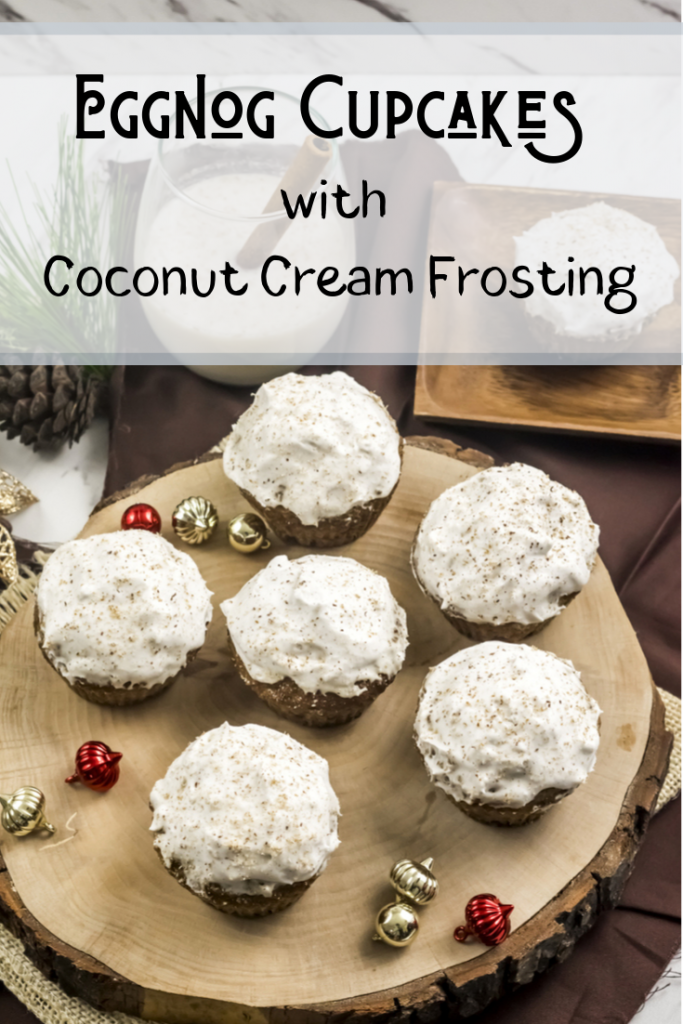 Eggnog Cupcakes with Coconut Cream Frosting