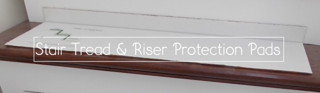 stair tread and riser protection
