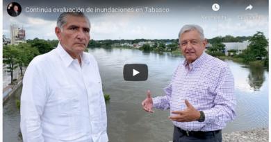 AMLO promete ayuda a los 80 mil damnificados en Tabasco