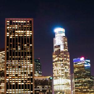 Los Angeles Skyline Backdrop