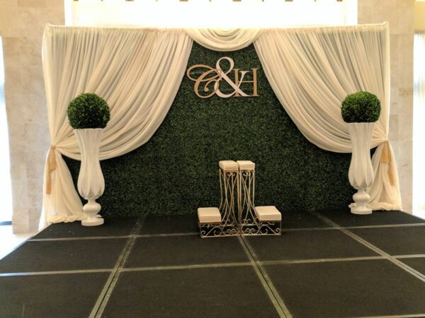 Wedding Boxwood Wall