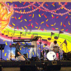 Mardi Gras Stage backdrops