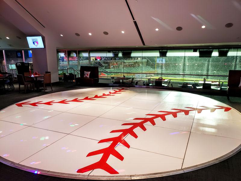 baseball theme dance floor