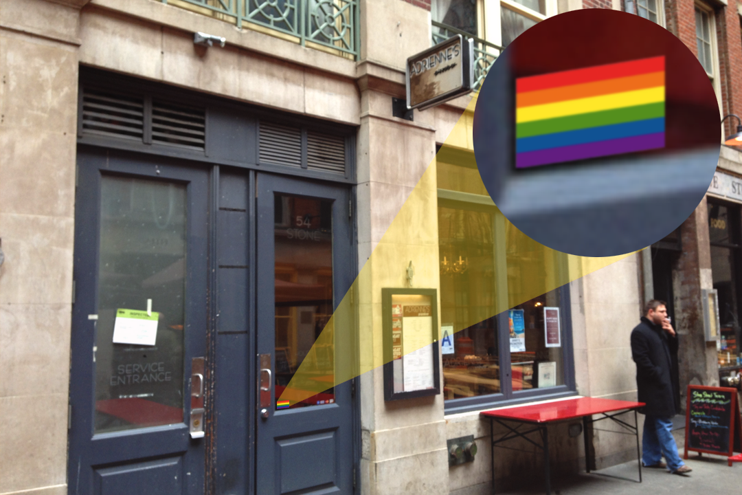 Tiny Rainbow Flag Placed In Window Fixes Terrible Bar
