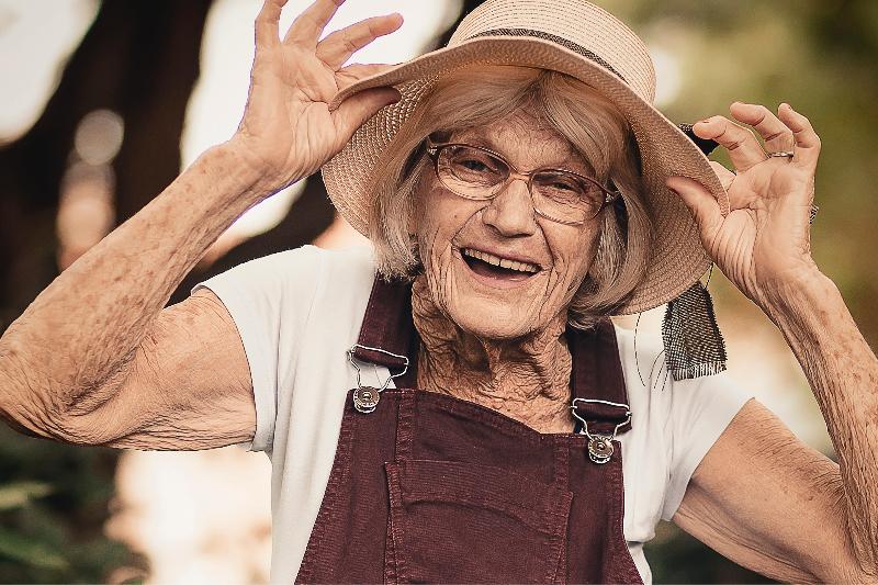 Grandma So Happy To See Your Friend Again