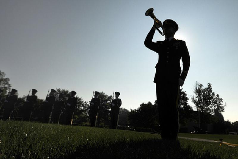 'NO TAPS' Yells Gay Man At Soldier's Funeral