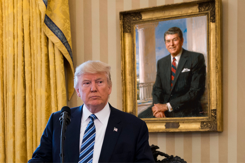 Trump Cites Reagan As Inspiration For Handling National Health Crisis