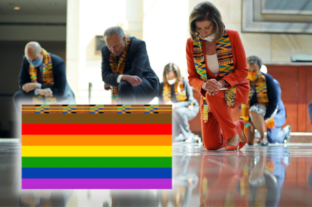 U.S. House Dems Reveal New Pride Flag With Kente Cloth Stripe