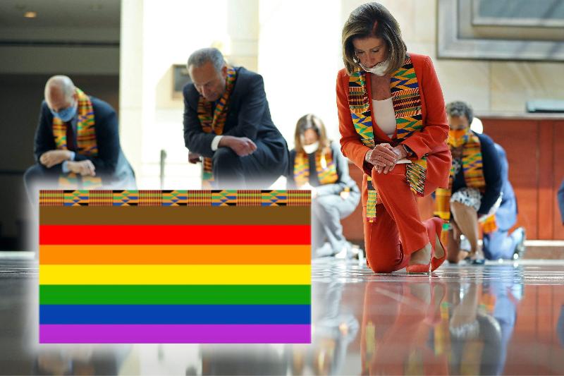 U.S. House Dems Reveal New Pride Flag With Kente Cloth Stripe
