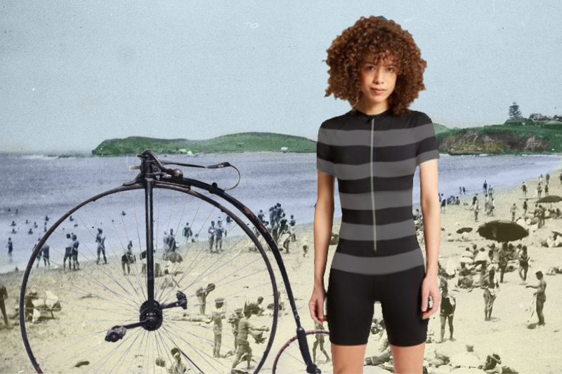 5 Gender Neutral Swimsuits That Let Everyone Know You Ride A Penny Farthing Bicycle