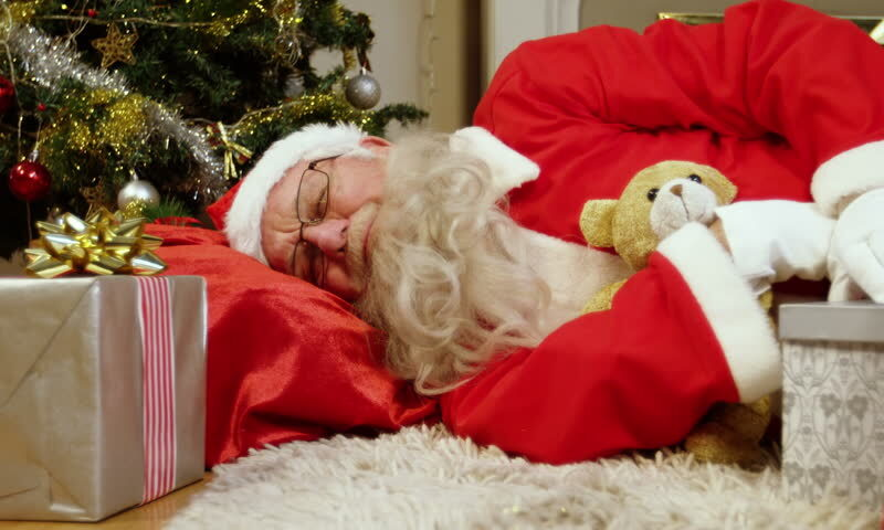 Santa Exhausted After Visiting Houses Of Every Good Twink