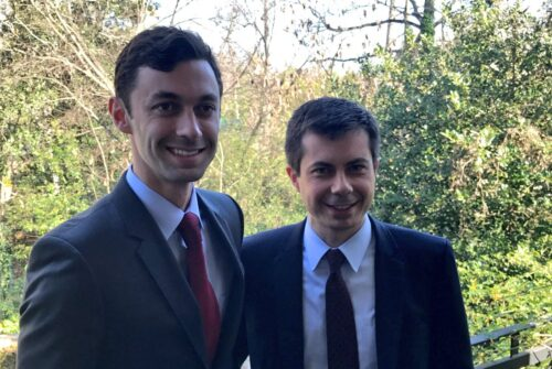 Studio Wins Bidding War For Rights To Ossoff/Buttigieg Porn Parody