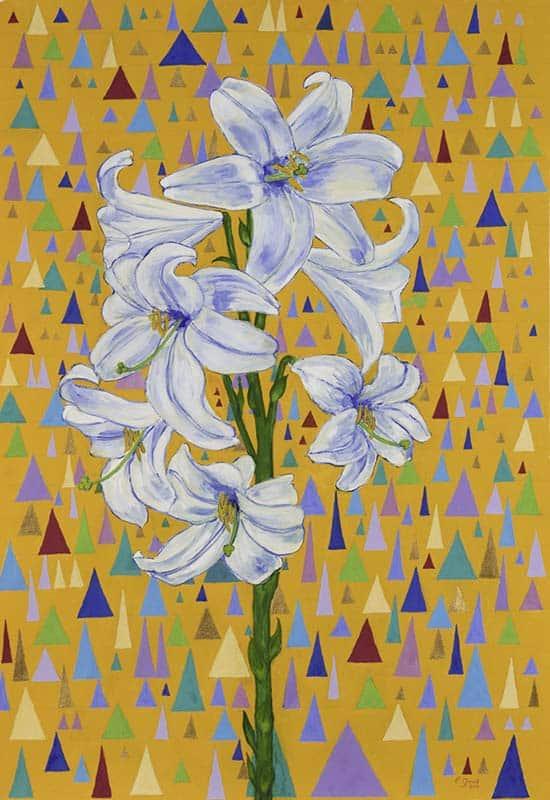 Joy with Lilies