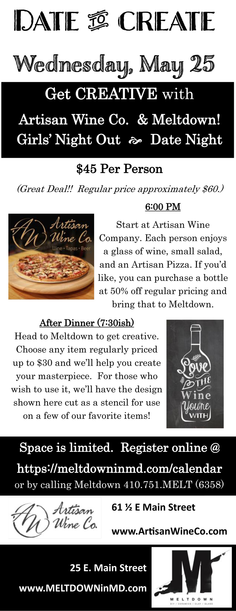 Date To Create Night Wed, May 25th