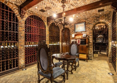Subterranean wine cellar with 8,000 bottle capacity