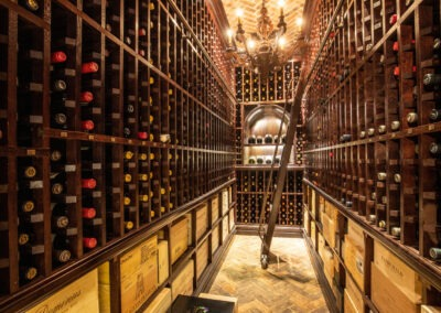 Subterranean wine cellar with magnum wall & case storage