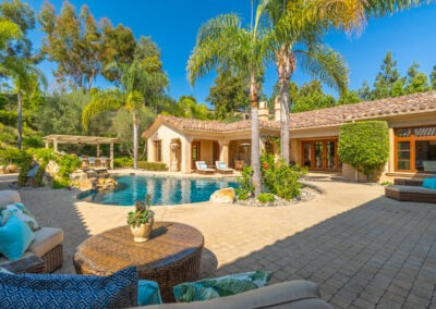 custom estate backyard pool and spa