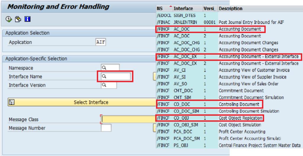 AIF in SAP Central Finance