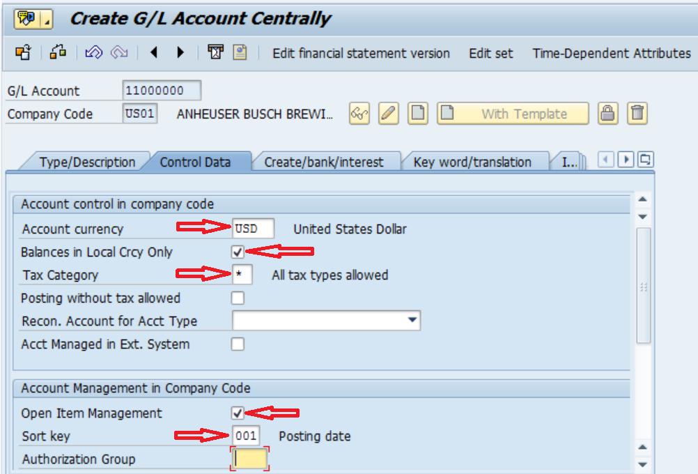 How to create a GL account in SAP FI