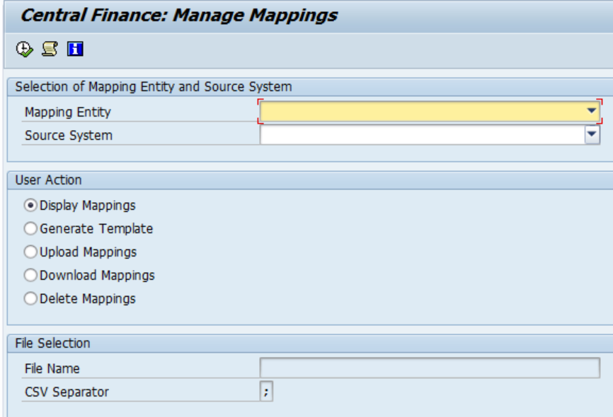 Maintain Data Mapping Tool FINS_CFIN_MAP_MANAGE