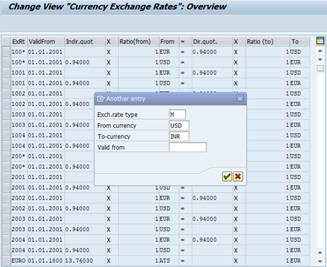 Maintain Exchange Rates
