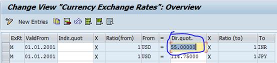 Update the exchange rates