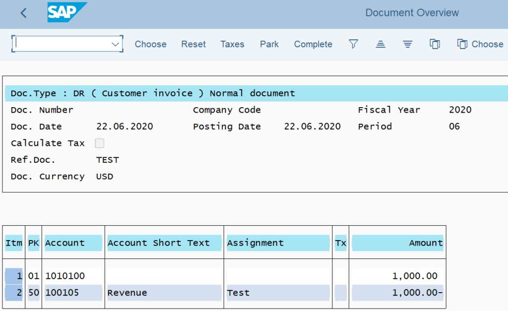 FB70 tcode in SAP: Post the customer invoice