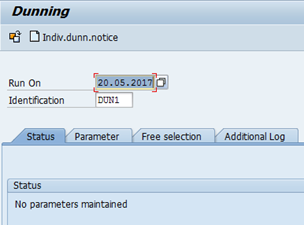Dunning in SAP: Execute tcode F150