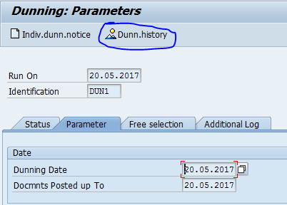 Dunning in SAP: History