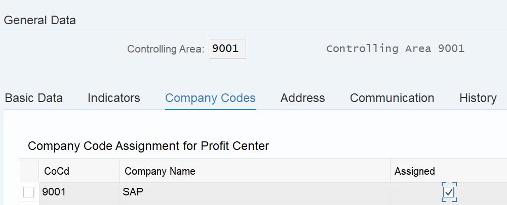 Assign a company code in tcode KE51