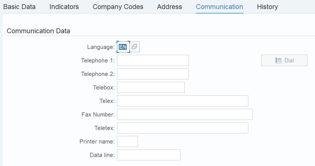 Enter the communication details