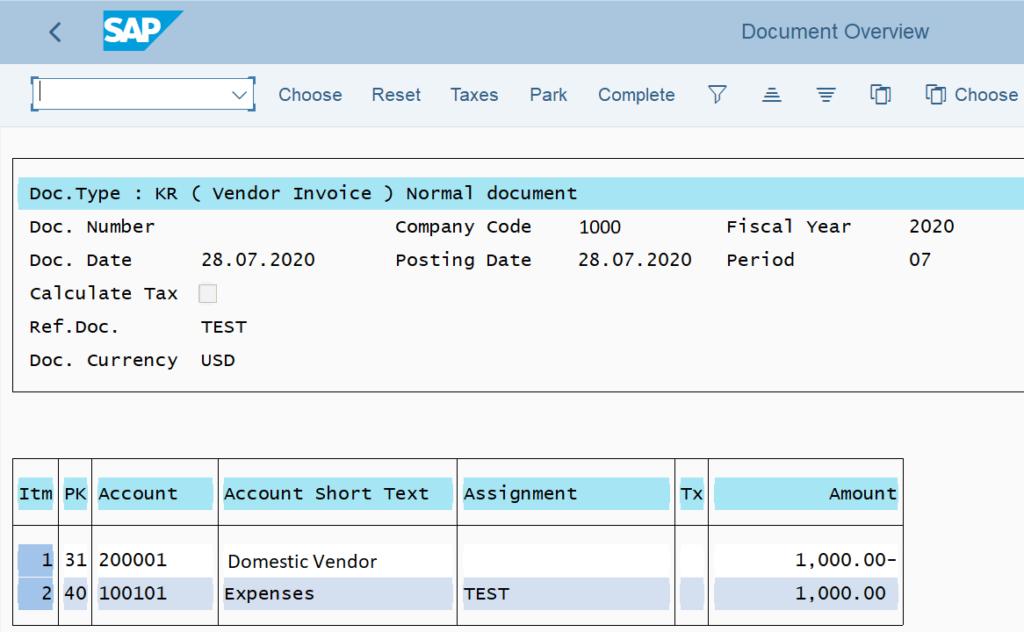 FB60 in SAP