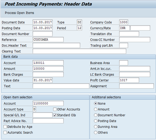 F-28 Tcode in SAP: Post Incoming Payment