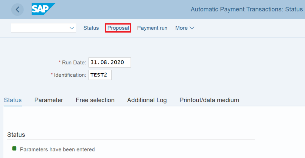 APP in SAP: Payment Proposal