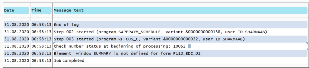 F110 in SAP: Cheque Number