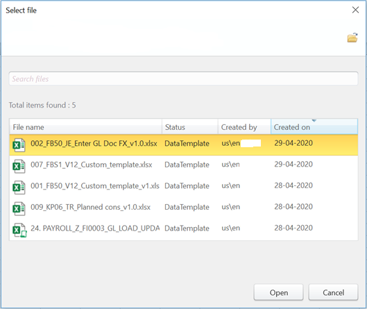 Select the Winshuttle Scripts