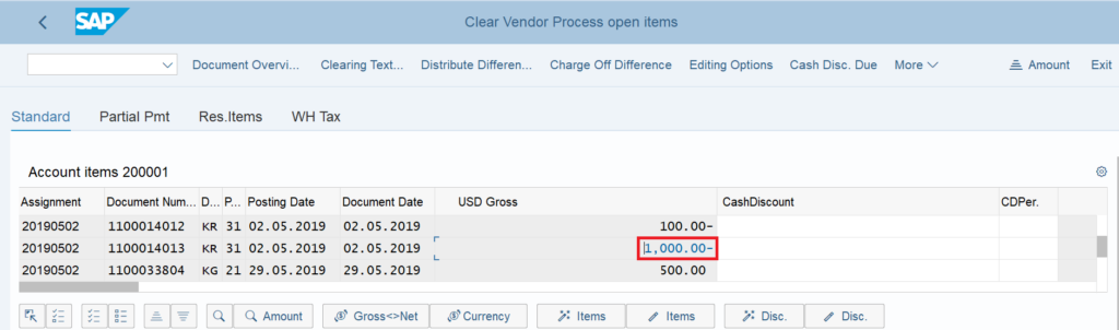F-44 in SAP: Clear vendor open items