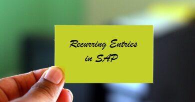 Recurring Entries in SAP