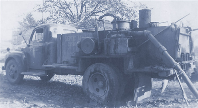 Antique Septic Pumping Truck