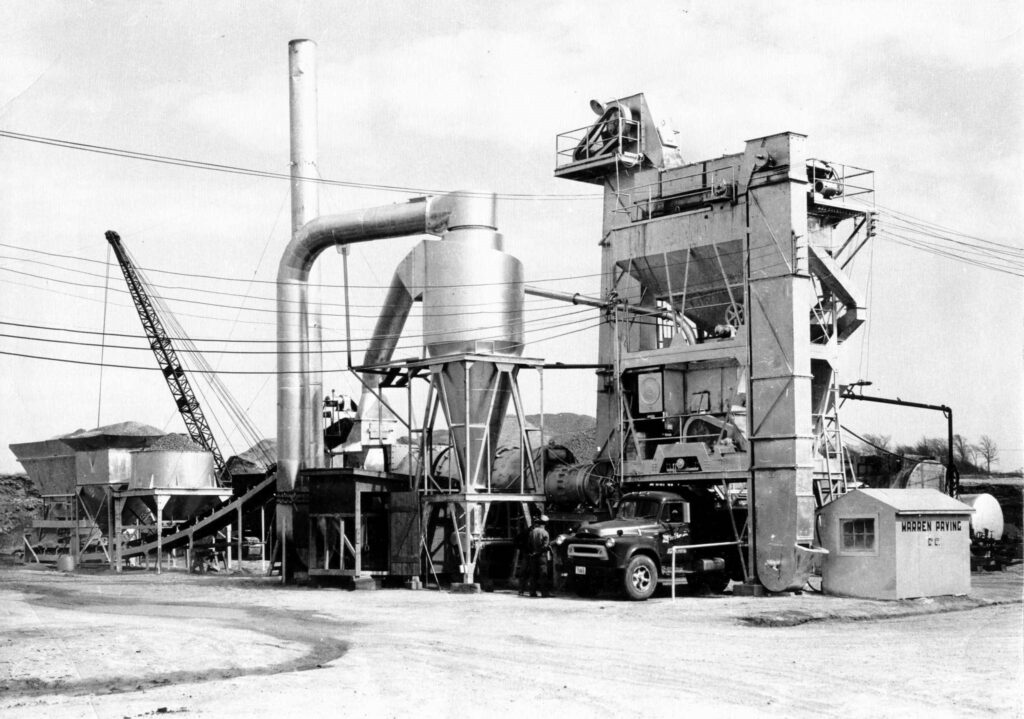 photo of vintage asphalt plant