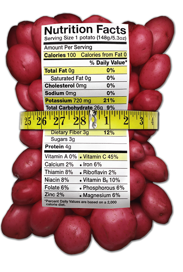 Red Potatoes Nutrition Label