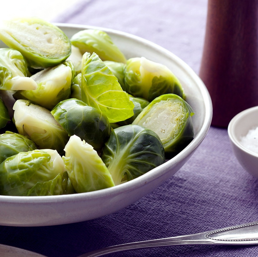 Alton Brown's, basic Brussels Sprouts that were cut in half and steamed.